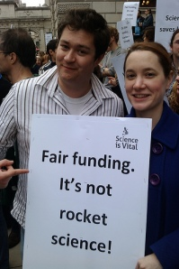 The Science is Vital campaign from 2010. A new science group is set to march parliament next month.